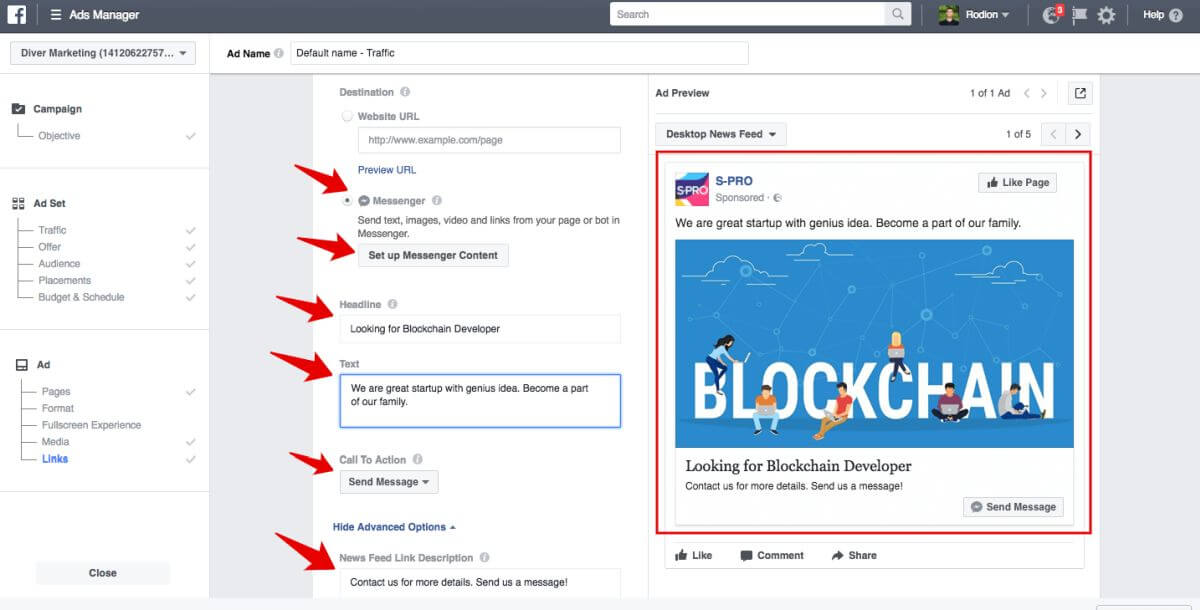 Facebook advertising campaign - Blog S-pro
