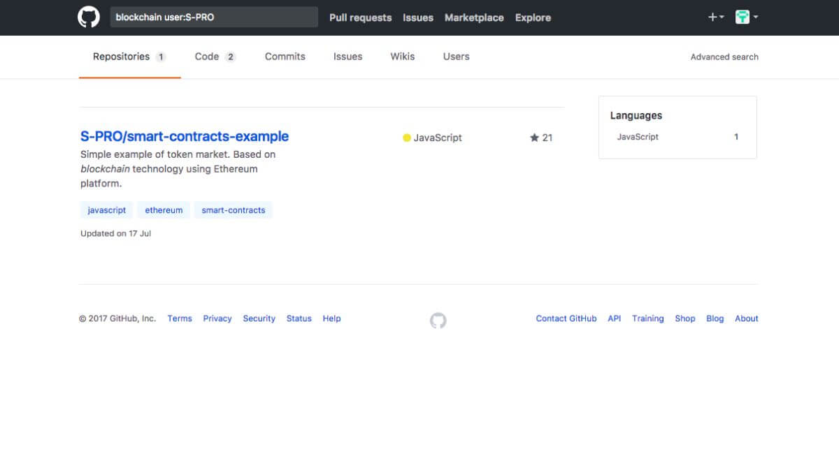 Github Search results - Blog S-pro