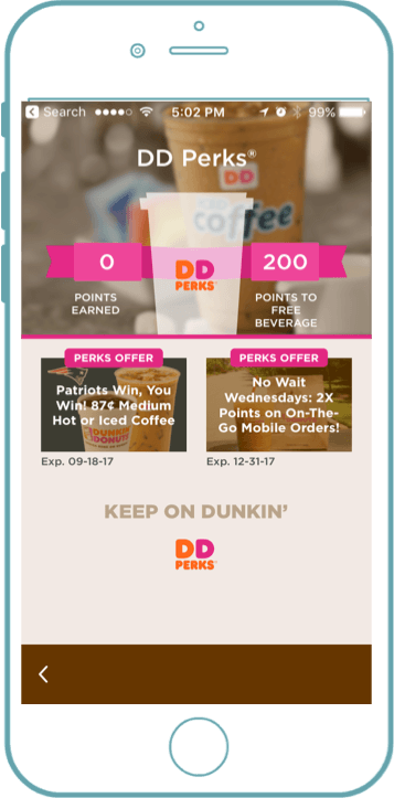 Dunkin Donuts loyalty app - Blog S-Pro