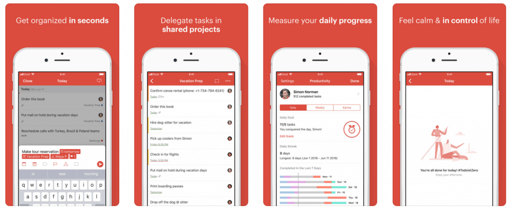 Todoist screenshots - Blog S-PRO