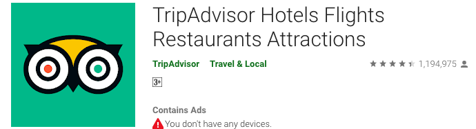 TripAdvisor Google Play - Blog S-Pro
